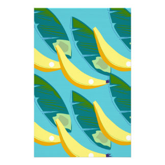 Design bananas on blue stationery