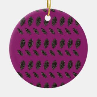 Design beans ceramic ornament