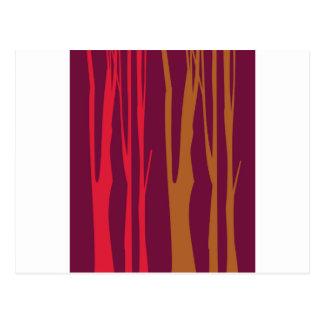 DESIGN BEDROOM Hand painted Trees Postcard