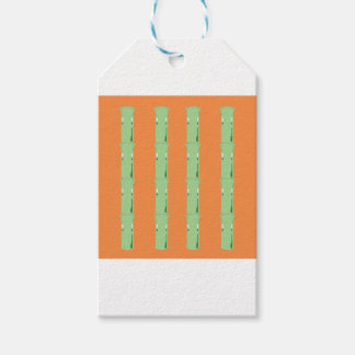 Design bio bamboo elements gift tags