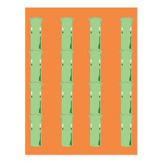 Design bio bamboo elements postcard
