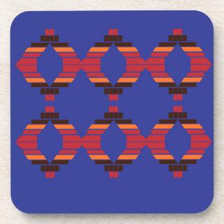 Design blocks blue Ethnic Coaster