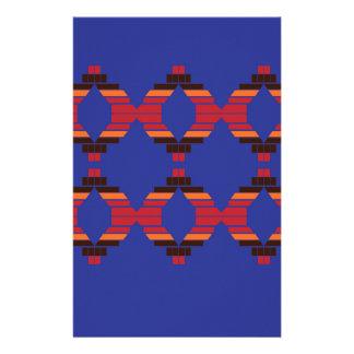 Design blocks blue Ethnic Stationery