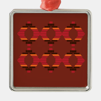Design Blocks ethnic Chocolate Metal Ornament