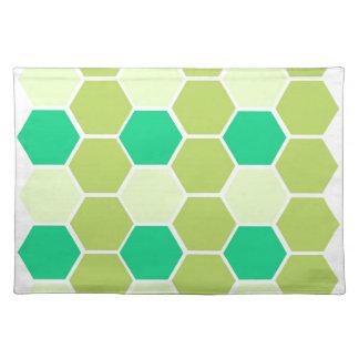 Design blocks green eco placemat