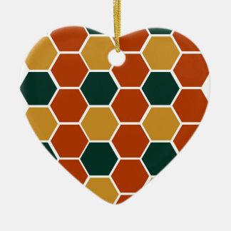 Design blocks Honey Ceramic Ornament