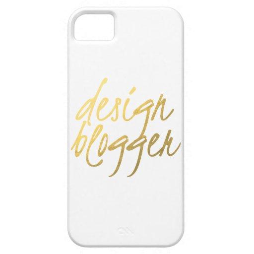 Design Blogger - Gold Script iPhone 5 Case