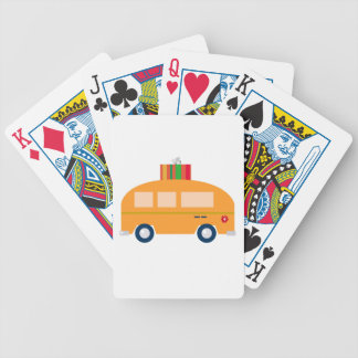 Design bus gold bicycle playing cards