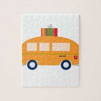 Design bus gold jigsaw puzzle