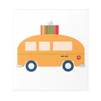 Design bus gold notepad