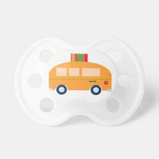 Design bus gold pacifier
