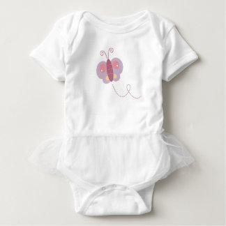 Design butter fly on white baby bodysuit