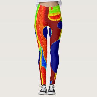 Design BY FRank Mothe. Crazy Color. Leggings