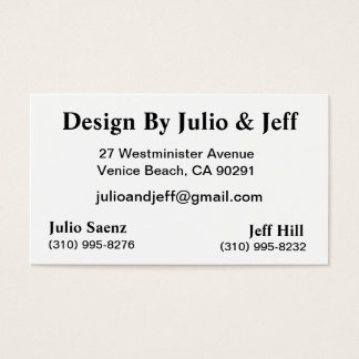 Design By Julio & Jeff Business Card