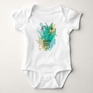 Design Cactus watercolor Baby Bodysuit
