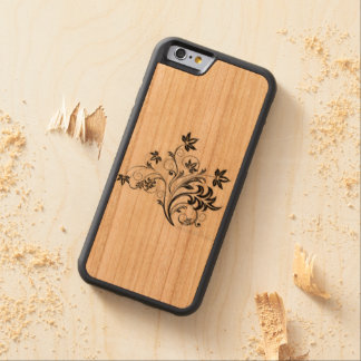 design carved cherry iPhone 6 bumper case