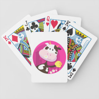 Design collection with Cow and Bell Bicycle Playing Cards