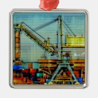 Design crane metal ornament