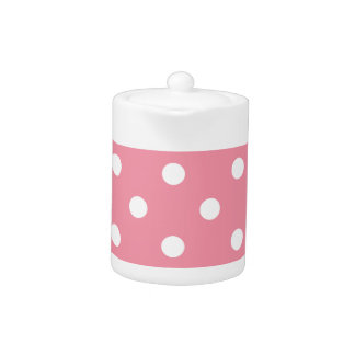 Design dots white on pink sweet