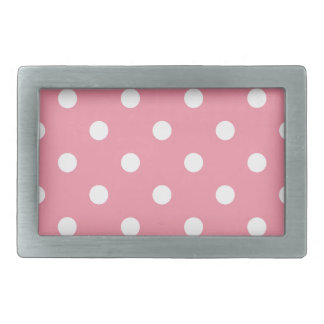 Design dots white on pink sweet belt buckle