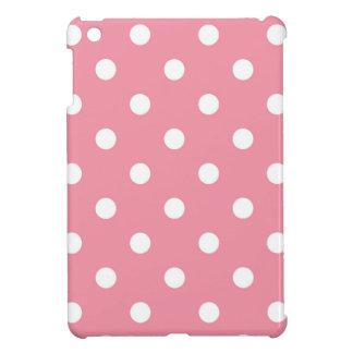 Design dots white on pink sweet iPad mini cases