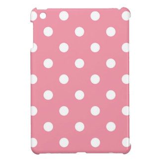 Design dots white on pink sweet iPad mini cover