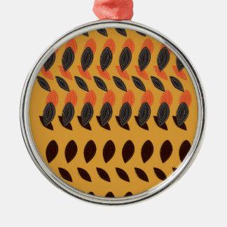 Design eco beans metal ornament