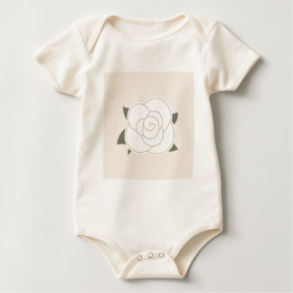 Design edition with Vintage rose Baby Bodysuit