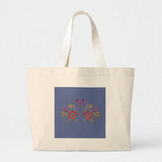 Design elegant Henna  red Silver Large Tote Bag