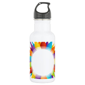 Design element with colorful composition of bottle