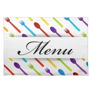 Design element with spoons and fork placemat