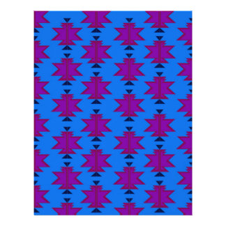 Design elements aztecs blue letterhead