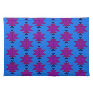 Design elements aztecs blue placemat