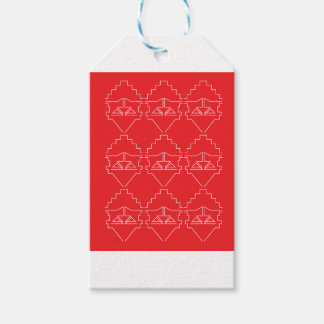 Design elements aztecs old look gift tags