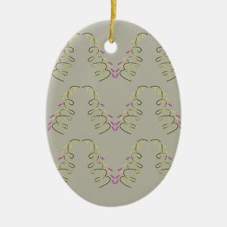 Design elements beige ceramic ornament