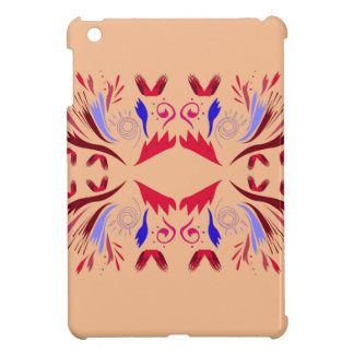Design elements beige Ethno  Red Case For The iPad Mini