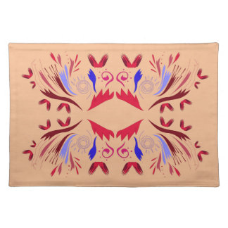 Design elements beige Ethno  Red Placemat