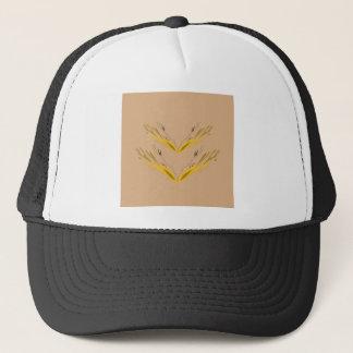 Design elements beige gold trucker hat