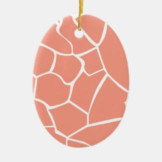 Design elements beige honey ceramic ornament