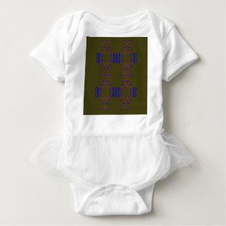 Design elements bio ethno baby bodysuit