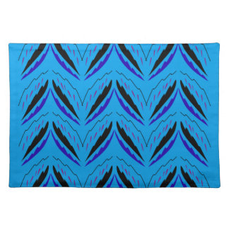 Design elements blue ethno placemat