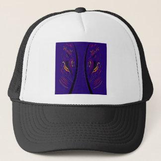 Design elements blue ethno trucker hat
