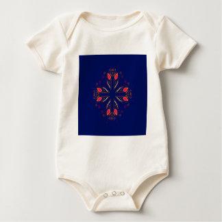 Design elements blue  FOLK Baby Bodysuit
