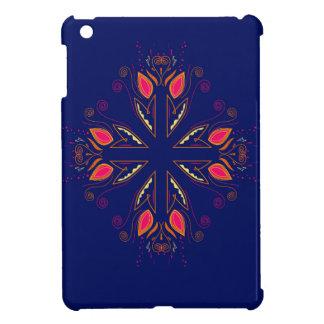 Design elements blue  FOLK iPad Mini Cover