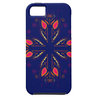 Design elements blue  FOLK iPhone 5 Case