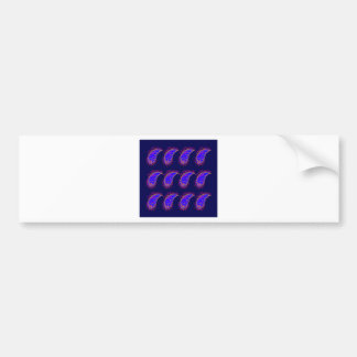 DESIGN ELEMENTS BLUE Paisleys Bumper Sticker
