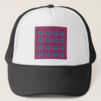 Design elements blue pink trucker hat
