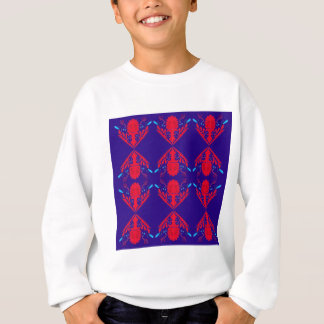 Design elements blue  red Ethno Sweatshirt