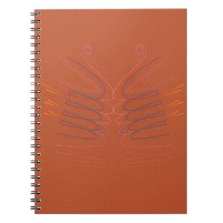 Design elements bright eco notebook