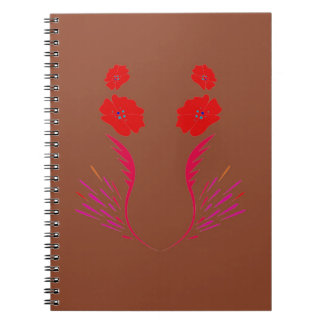 Design elements brown eco notebooks
